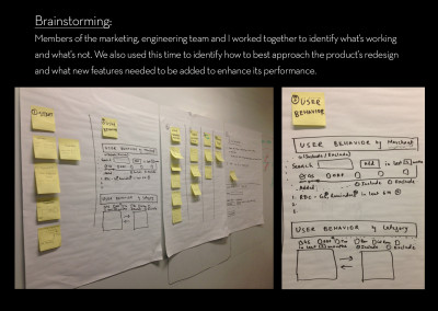 Brainstorming usability and navigation